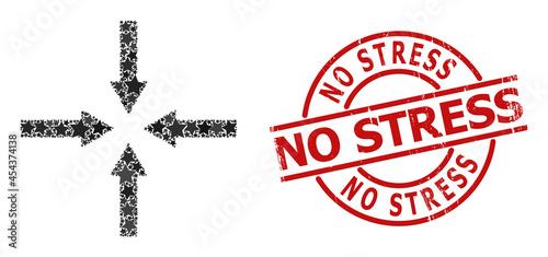 Valokuva Shrink arrows star mosaic and grunge No Stress seal stamp