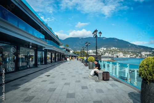 Canvastavla Yalta, Crimea Republic black sea crimea yalta coast city center yalta embankment