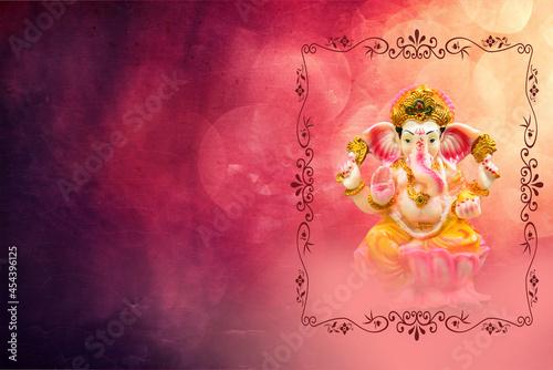 Photo Ganesh Chaturthi Festival Background with Lord Ganesha