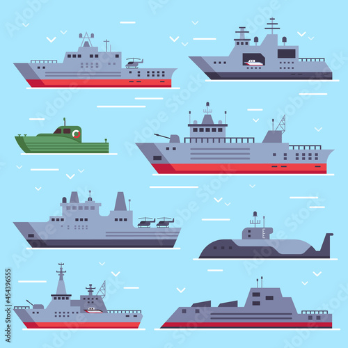 Canvas Flat military boats