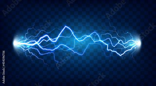 Fotografia Electric discharge shocked effect for design