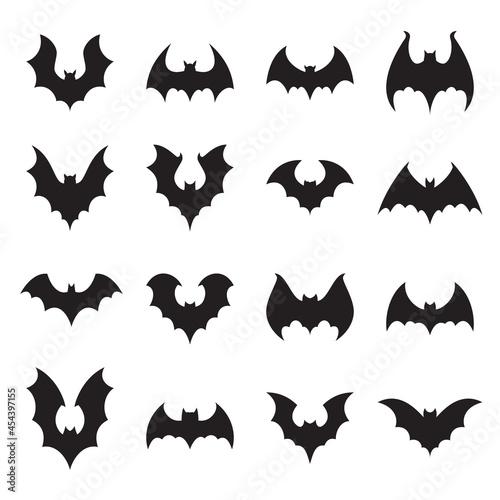 Fotografie, Obraz Vampire bat silhouette
