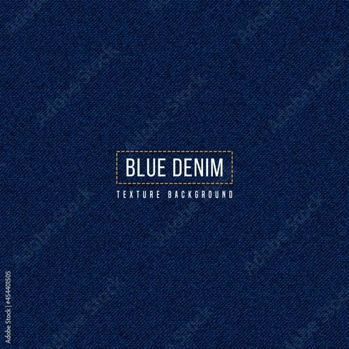 Canvas Print Dark blue denim texture background, Realistic jeans fabric pattern