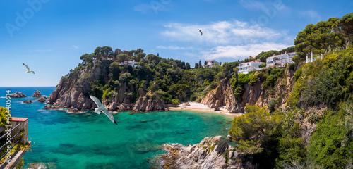 Foto Panoramic view of the Costa Brava seaside of Catalonia, Spain