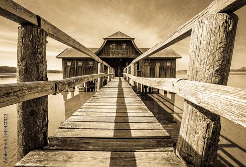 old wooden boathouse Fototapete