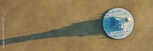 Obraz na plátně Egypt obelisk with space for your content