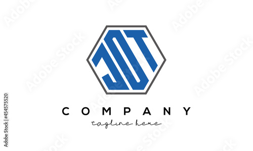 Canvastavla letters JOT creative polygon logo victor template