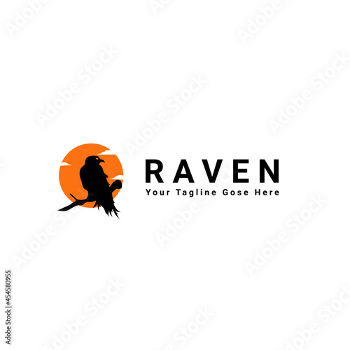 Raven Logo Design Fotobehang