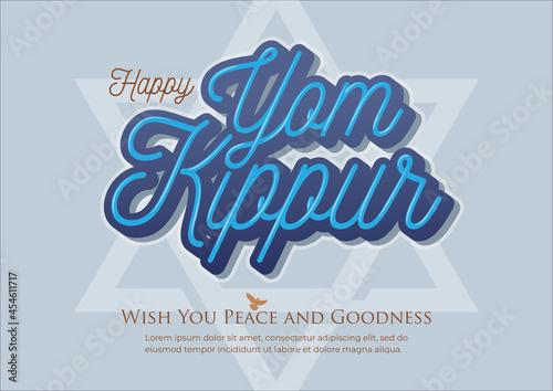 Fotografie, Obraz Yom Kippur vector illustration