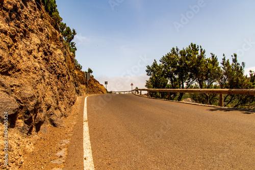 Canvastavla Carretera en Teno Alto, isla de Tenerife