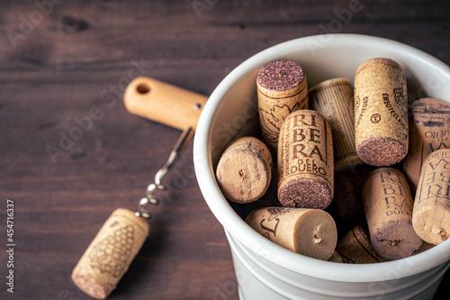 Tela Corchos de botellas de vino Ribera del Duero