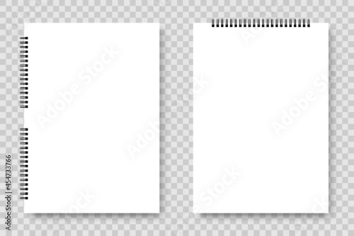Fotografia, Obraz White Notebook with spiral