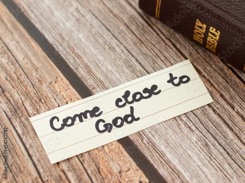 Fototapeta Come close to God Jesus Christ