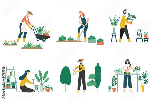 Fotografiet People gardening