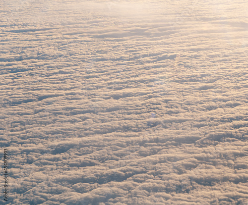 Fotografie, Obraz Birds eye view from above the clouds