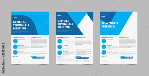 Fototapeta Townhall meeting flyer design template bundle