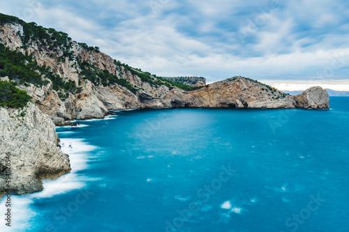 Canvas Beautiful rocky coastline (Mediteranean Sea, Costa Brava, Parc Natural de Montgrí