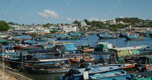 Fotografie, Obraz Fishing boat on the sea