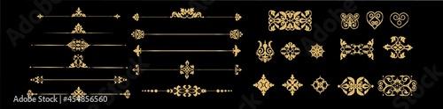 Foto golden calligraphic ornaments.