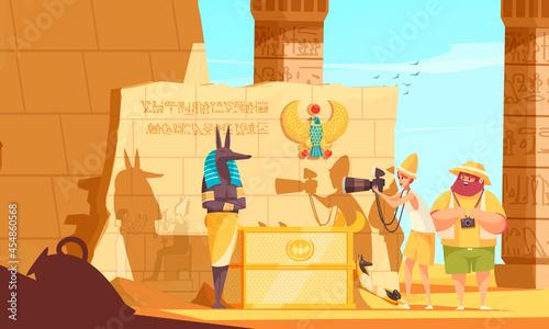 Foto Egypt Travel Cartoon Composition