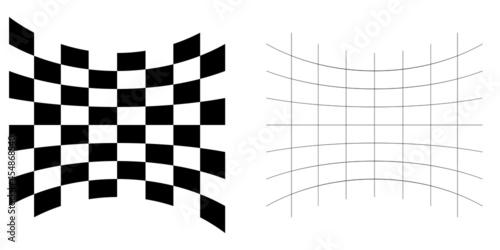 Distorted abstract geometric shape elements Fototapeta