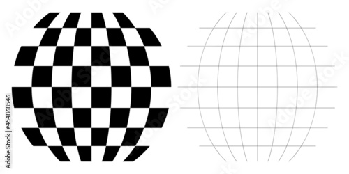 Fotografia Distorted abstract geometric shape elements