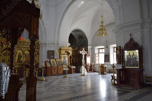 Canvastavla interior of church