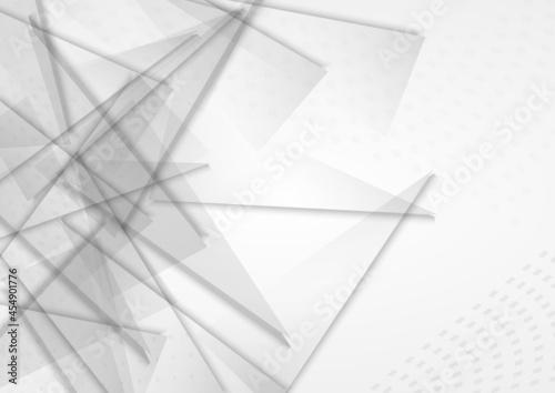 Murais de parede Transparent Geometric Creative Vector Gray