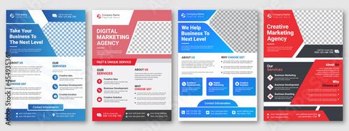 Obraz na plátně Corporate creative colorful business flyer template design set, abstract busines
