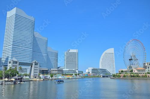 Fotografia, Obraz 横浜市みなとみらいの汽車道からの風景。