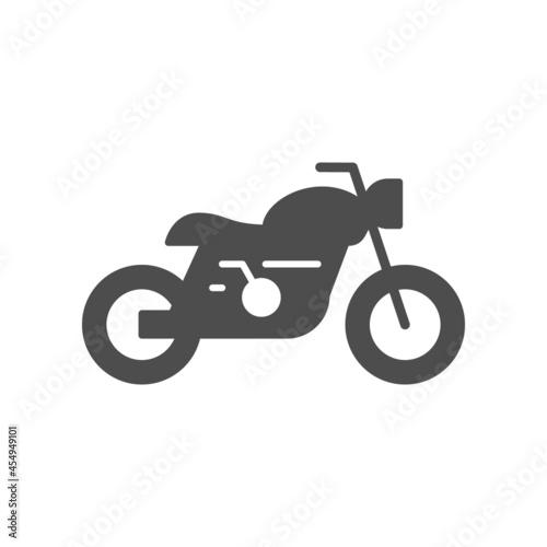 Obraz na plátně Cafe racer motorcycle glyph icon