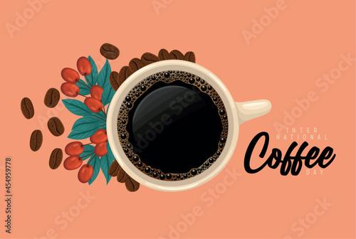 coffee day design Fototapeta