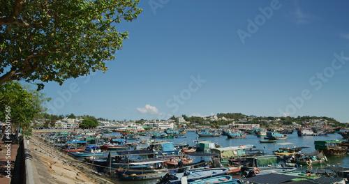 Fototapeta Fishing boat on the sea