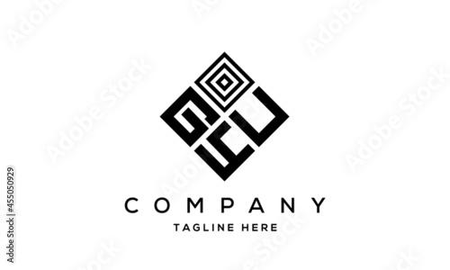 Fotografia GUY square three latter logo vector