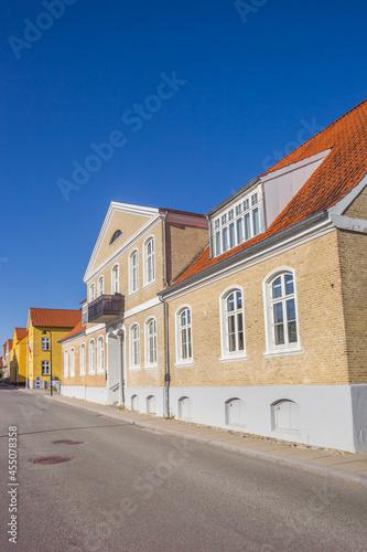 Fotografie, Obraz Street with historic houses in the center of Christiansfeld, Denmark