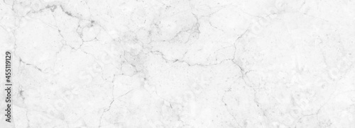 Fotografiet Strong Marble granite white panorama background wall surface black pattern graph