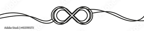 Fotografia Infinity symbol in line drawing style