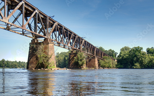 Photo A railroad trestle over the Catawba river near Rock Hill, South Carolina, USA