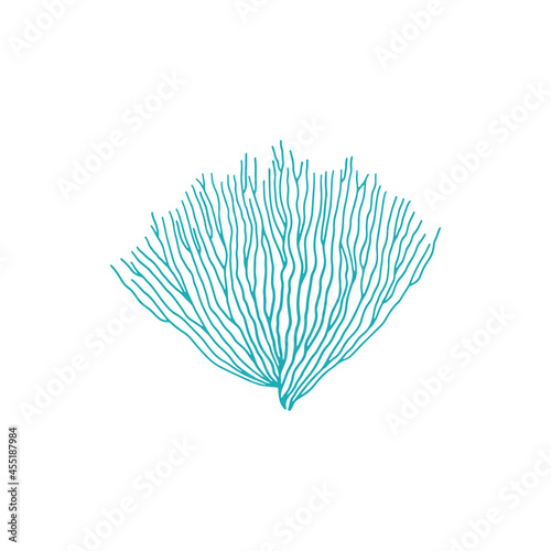 Fotomural Blue bubble tip anemone isolated soft coral icon