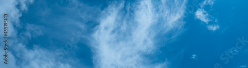 Fotografiet the concept of weather observation, meteorology-the formation of clouds in the sky