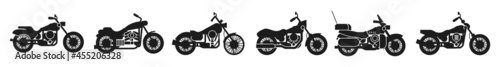 Fotografiet Motorcycle silhouettes, Bikes, motorcycle Icon vector design illustration logo template