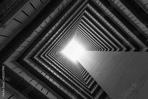 High rise residential building of public estate in Hong Kong city Fotobehang
