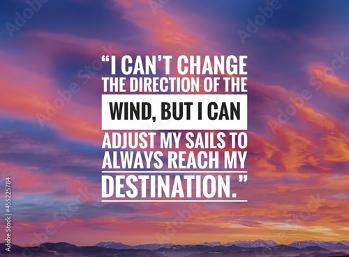 Canvastavla Inspirational quote about life with sky background, success life quote