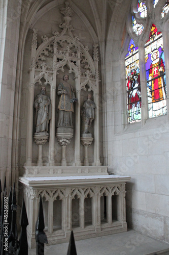 Fotografiet saint-nicolas basilica in saint-nicolas-de-port in lorraine (france)
