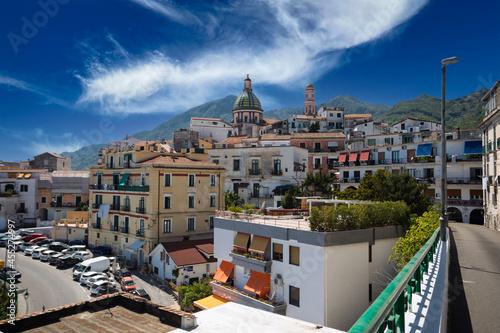 Canvas Panorama della città di vietri sul mare, costiera amalfitana