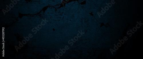 Fotografiet Creepy dark blue cement for background