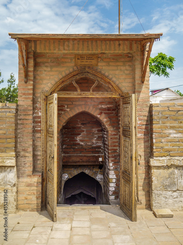 Entrance to medieval burial chamber, built by Timur (Tamerlane) for himself Fotobehang