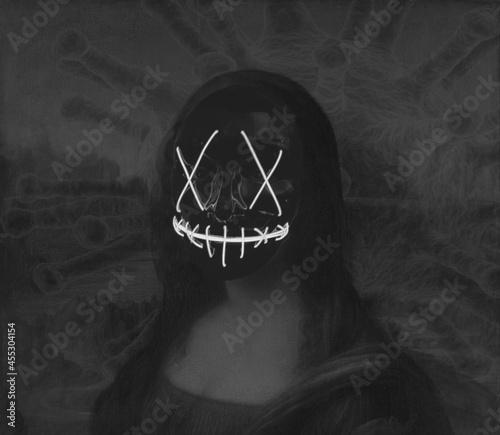 Fotografie, Obraz The Evil Mona Lisa - Ghostwoman