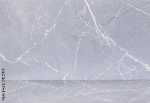 background of ceramic tiles with a pattern of gray marble Fototapet
