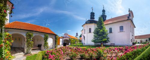 Fotografie, Obraz The Church of the Assumption of Our Lady, Klokoty, Tabor, Czech republic